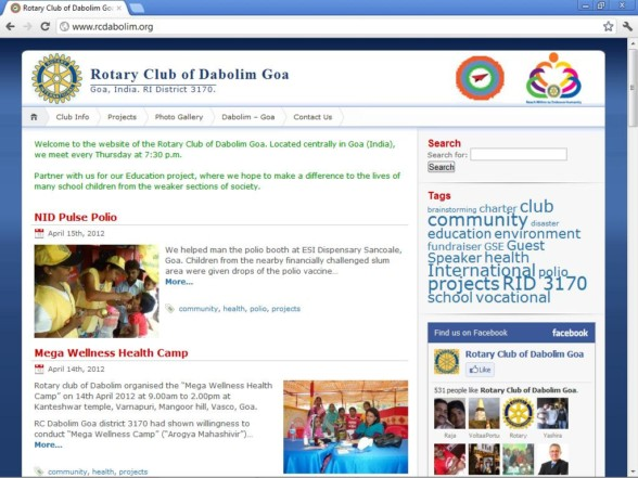 Rotary Club CMS and Social Marketing