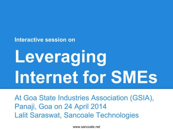 Leveraging Internet for SMEs